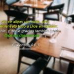 No hay que preocuparse dios nos va dar paz segun la biblia