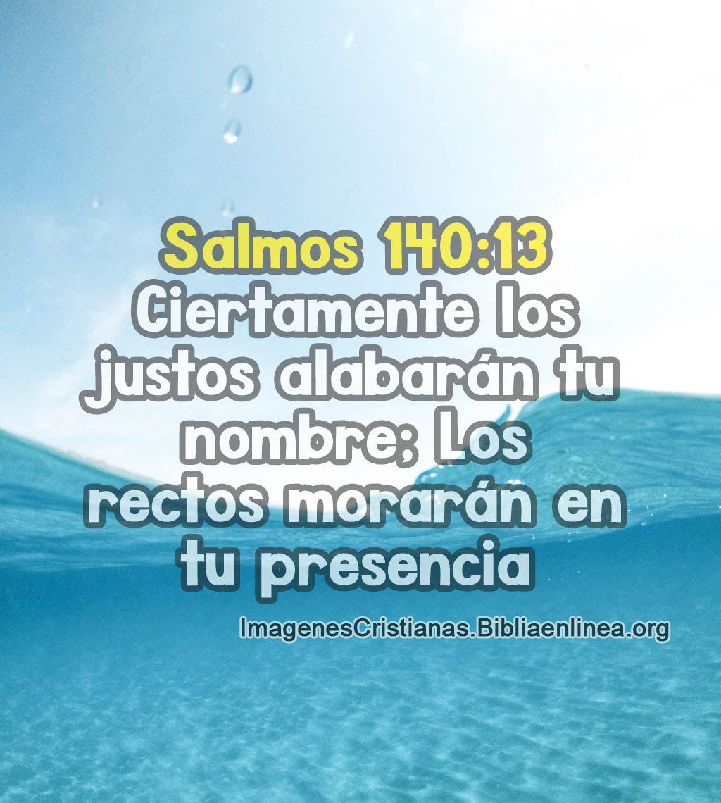 Imagen salmos 140 13 los justos