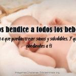 Imagenes con bebes y frases cristianas