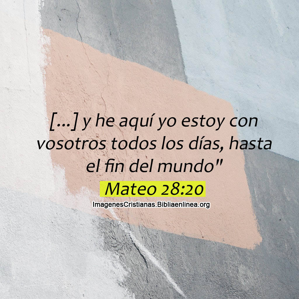 Imagen cristiana dios esta con nosotros todos los dias