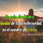 Declaro sanidad en el nombre de cristo imagen cristiana