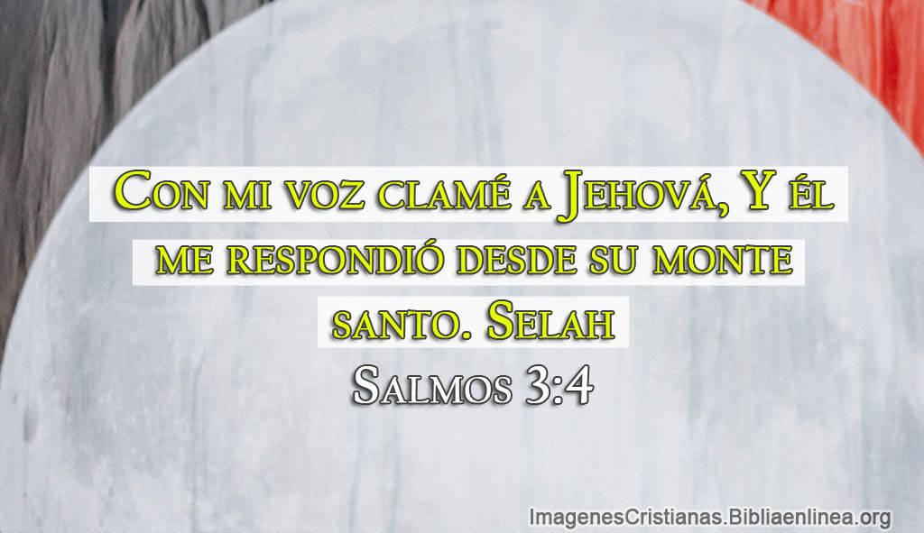 Imagen cristiana de aliento a dios clame y me escucho