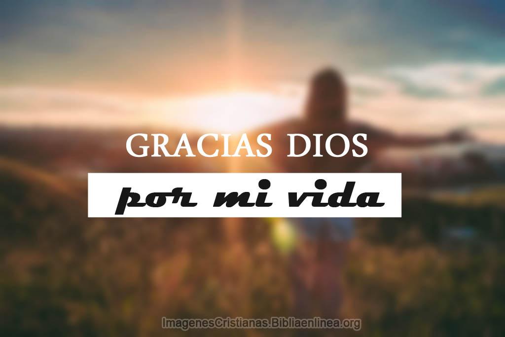Imagenes cristianas gracias por mi vida dios