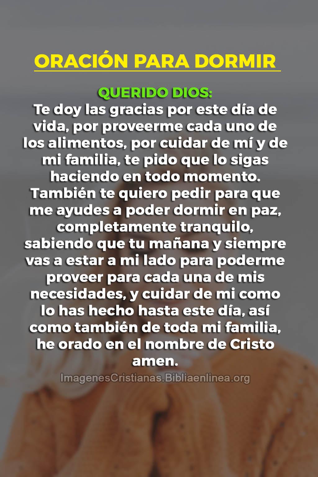 Oracion para dormir imagen