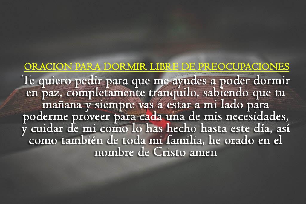 Oraciones para dormir imagenes cristianas