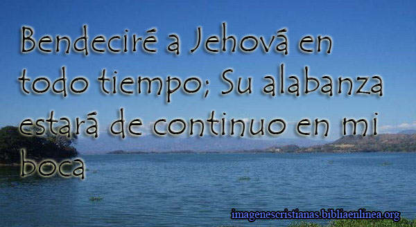 Bendecire a Jehova imagen cristiana