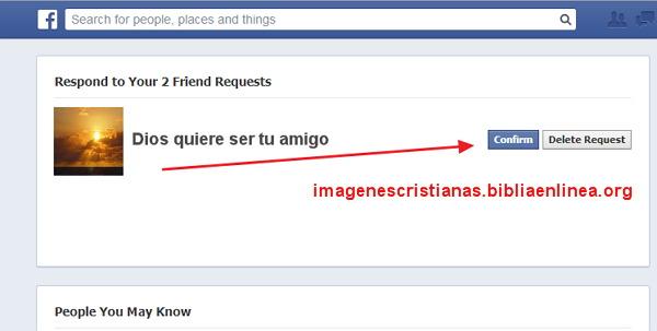 Dios quiere ser tu amigo en facebook invitación
