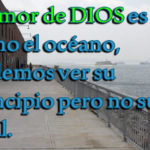 Imagen Cristiana El amor de DIOS es como el océano