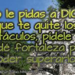 Imagen cristiana superar los obstáculos