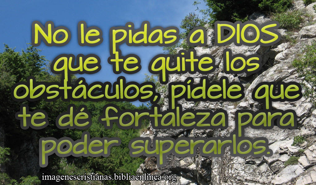 Imagen Cristiana Superar los Obstaculos