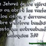 Imagen Cristiana con frase de la Biblia Sobre Abundancia