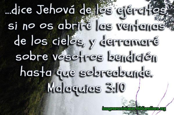 Imagen Cristiana con Frase de la Biblia Bendicion