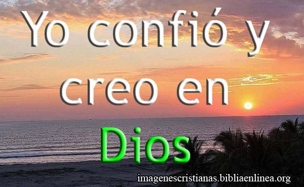 Imagen Cristiana yo confio en Dios gratis
