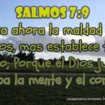 Imagen Cristiana con Salmos 7:9