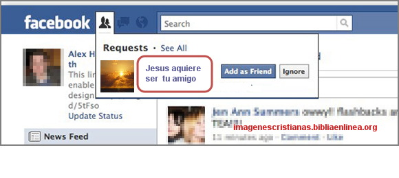 Jesus quiere ser  tu amigo para facebook