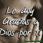Imagen: Le doy Gracias a Dios por ti
