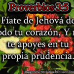 Imagen cristiana de proverbios 3:5
