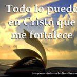 Bonita frase cristiana con imagen para descargar