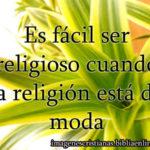 Frase con imagen cristiana de religion