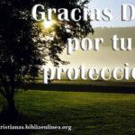 Imagen: Gracias Dios por tu protección