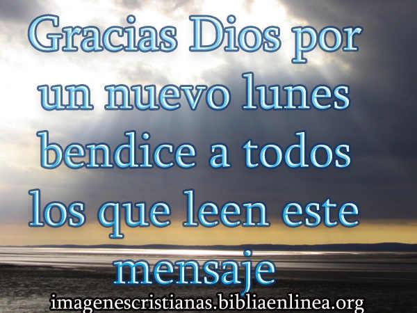 Imagen cristiana del lunes con bendición para los que que