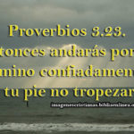 Imagen con proverbios 3:23