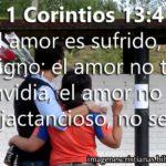 Imagen cristiana de amor 1 Corintios 13:4