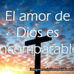 Imagen cristiana El amor de Dios es incomparable