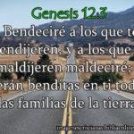 Imagen Cristiana: Genesis 12:3 Bendeciré a los que te bendijeren