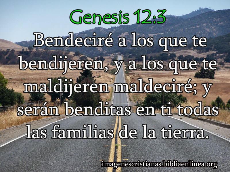 Imagen Cristiana: Genesis 12:3 Bendeciré a los que te bendijeren ...