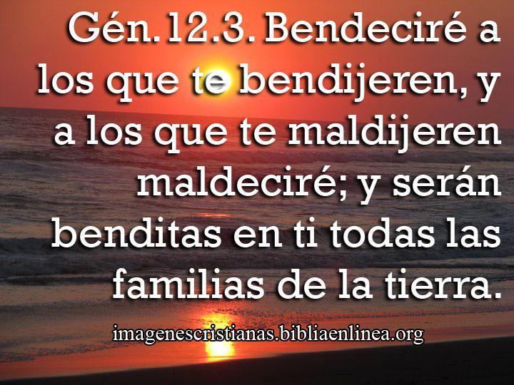 Imagen cristiana con Genesis 12:3 - Imagenes Cristianas