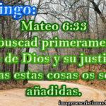 Imagen cristiana del Domingo – Mateo 6:33 primeramente el reino de Dios