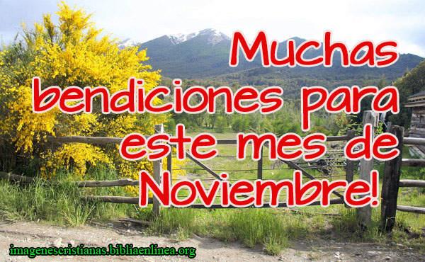 imagen cristiana para el mes de noviembre
