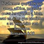 Imagen cristiana romanos 8: 28 Los que aman a Dios