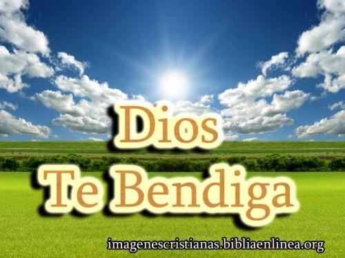 imagen de Dios te bendiga para facebook