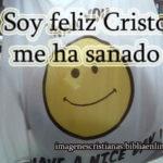 Imagen cristiana: Soy feliz Cristo me ha sanado