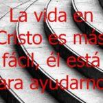Imagen con frase cristiana: la vida en Cristo