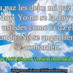 Imagen cristiana de paz: Juan 14:27