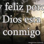 imagen con un mensaje cristiano de ser feliz