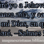Imagen cristiana Diré yo a Jehová: Esperanza