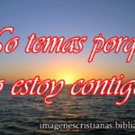 Imagen cristiana No temas porque yo estoy contigo