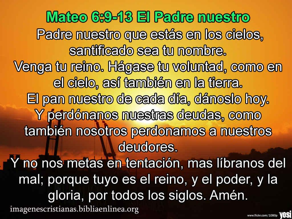 Imagen con el Padre Nuestro gratis para compartir