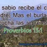 Imagen cristiana de Proverbios 13:1