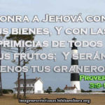 proverbios de honrar a jehova