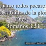 Imagen y pasaje de Romanos 3:23