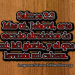 Imagen cristiana con Salmos 3:3