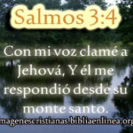 Imagen cristiana con salmos 3:4