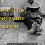 Imagen para cristianos Solo tu Dios conoces mi corazón