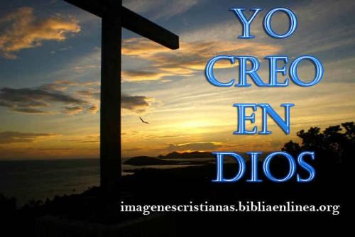 yo creo en Dios image cristiana