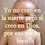 Imagen cristiana de un niño mas un mensaje